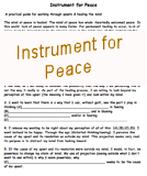 Instrument for Peace Worksheet